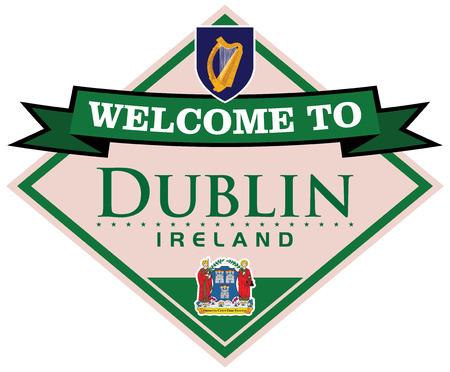 dublin: dublin ireland sticker