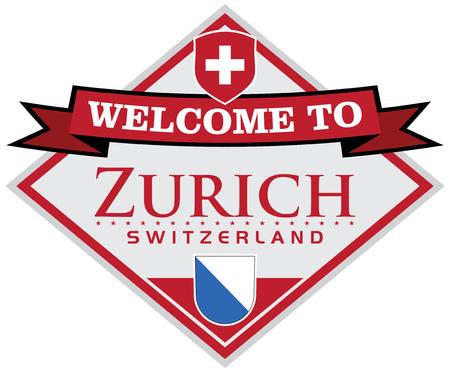 visitor: zurich switzerland sticker