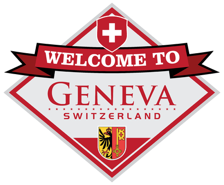 swiss flag: geneva switzerland sticker