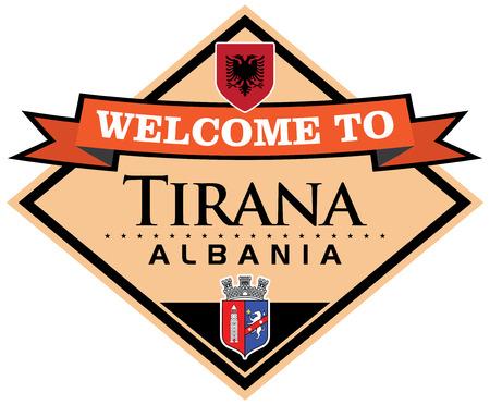 albania: tirana albania sticker Illustration