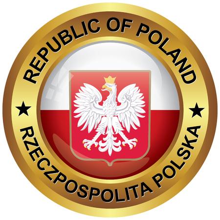 Republiek Polen icoon Stock Illustratie