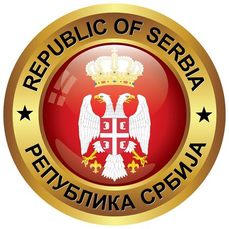 serbia flag: republic of serbia icon