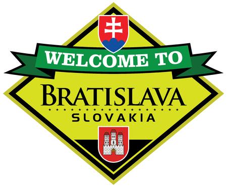 slovakia flag: bratislava slovakia sticker Illustration