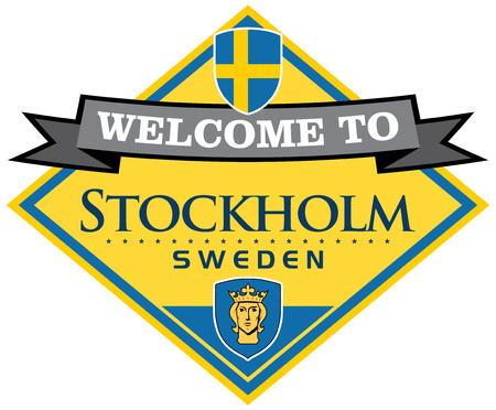 stockholm sweden sticker