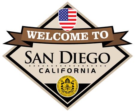 san: san diego california sticker