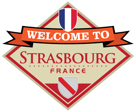 strasbourg: strasbourg france sticker Illustration