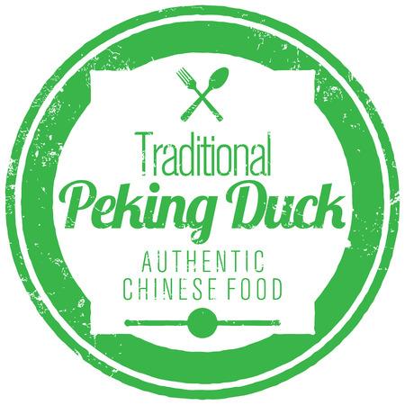 peking: peking duck stamp