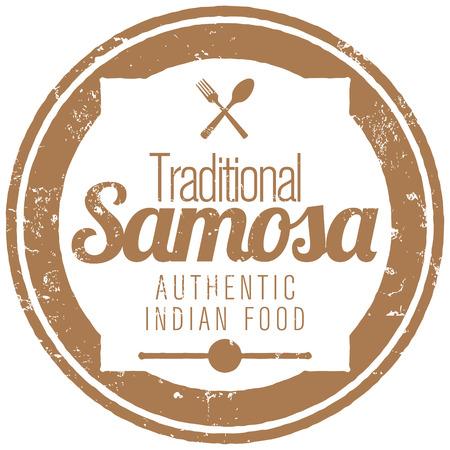india food: indian samosa stamp