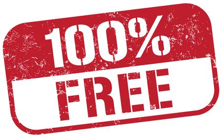 100 無料スタンプ  イラスト・ベクター素材