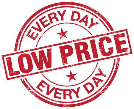 low prices: low price stamp