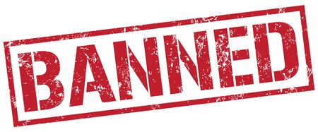 banned: banned stamp