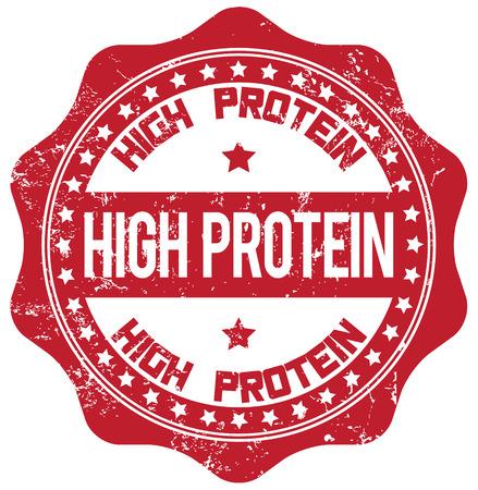 protein: high protein stamp