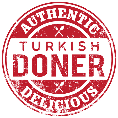 turkish doner kebab stamp