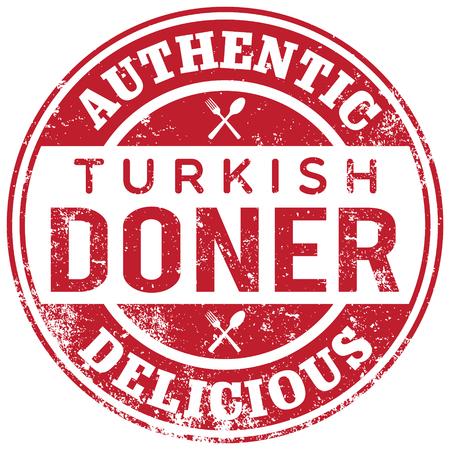 turkish doner kebab stamp