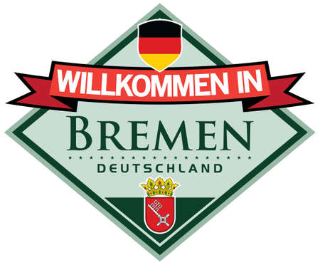 bremen: welcome to bremen sticker in german language