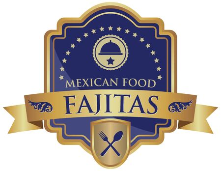 mexican food: mexican food fajitas sticker Illustration