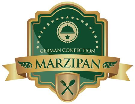 confection: marzipan confection sticker Illustration