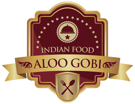 indian food: indian food aloo gobi sticker