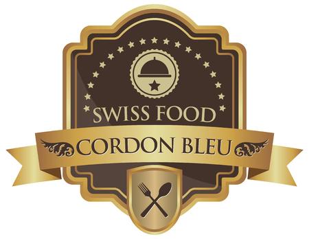 cordon: cordon bleu sticker Illustration