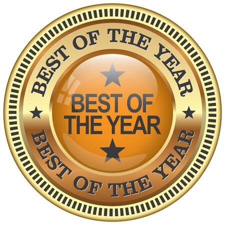 awarded: best of the year icon Illustration