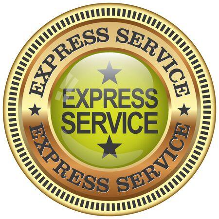 treno espresso: icona di servizio espresso Vettoriali