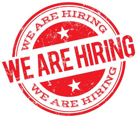hiring: we are hiring stamp