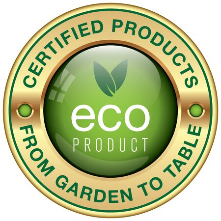 product icon: organic ecological product icon