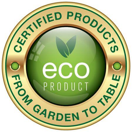 organic food: organic ecological product icon