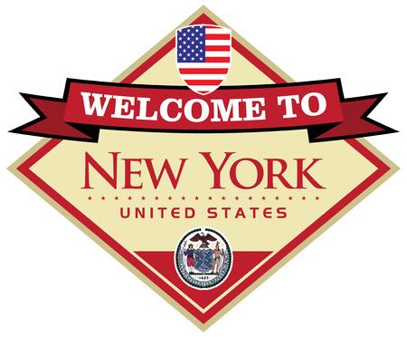 visit us: new york usa sticker Illustration