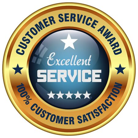 customer service: excellent service rosette