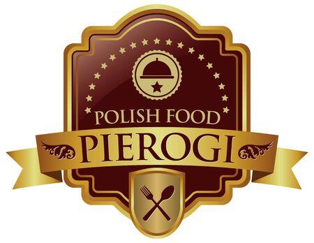 food: pierogi polish food banner Illustration