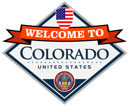 denver colorado: welcome to colorado sticker