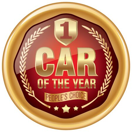 voted: car of the year icon Illustration