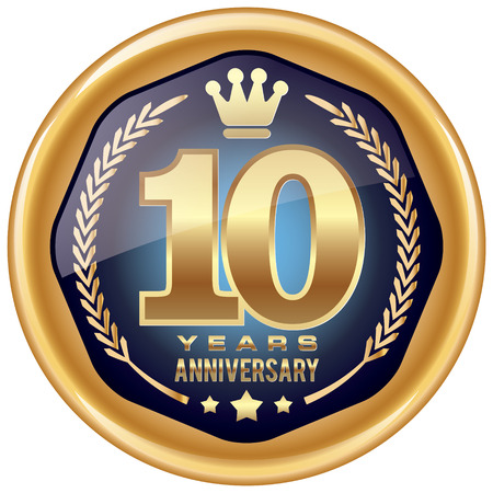 10 years: 10 years anniversary icon