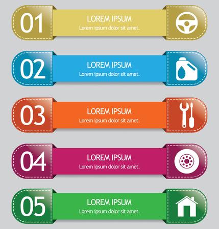 auto service: auto service infographic elements