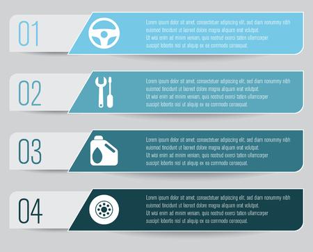 car service infographic Vettoriali
