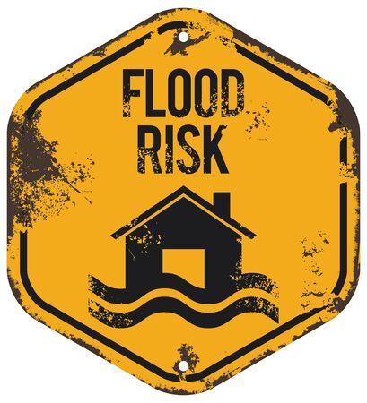 flood risk sign