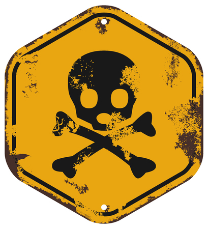 dangers: danger of death sign