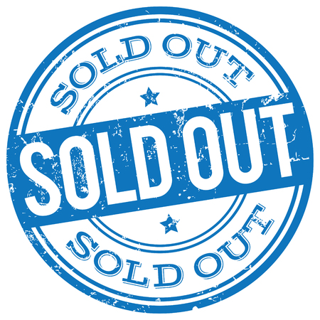 sold out: sold out stamp Illustration