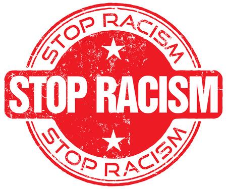 humanismo: detener el racismo Vectores