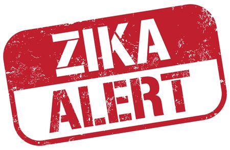 Zika Alarm Stempel Standard-Bild - 51627521