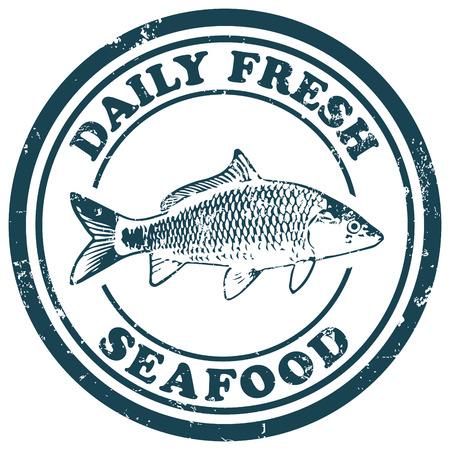 fruits de mer frais tous les jours Vecteurs