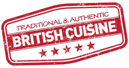 british cuisine: british cuisine stamp Illustration