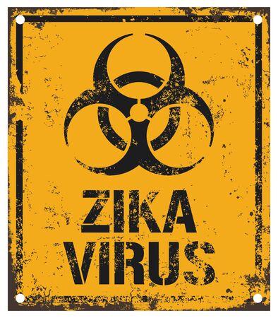 virus alert: zika virus sign Illustration