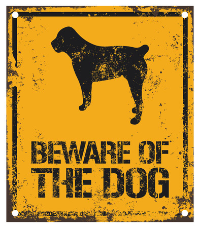 beware dog: beware of dog sign
