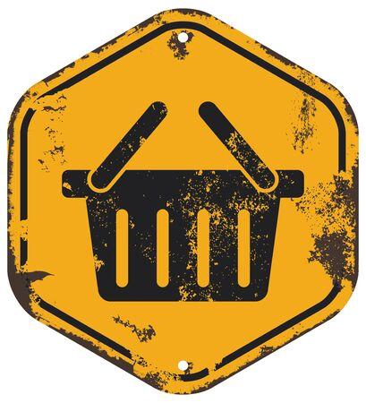at sign: shopping sign