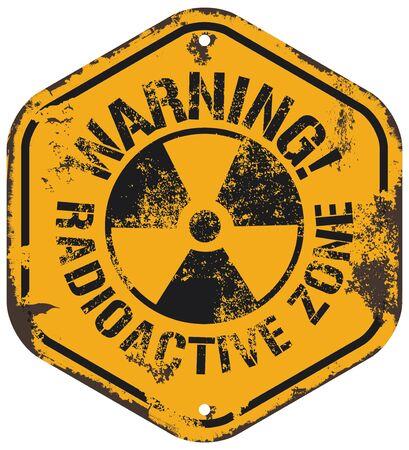 radiacion: advertencia de radiación Vectores