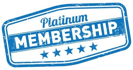 Platin-Mitgliedschaft Stempel