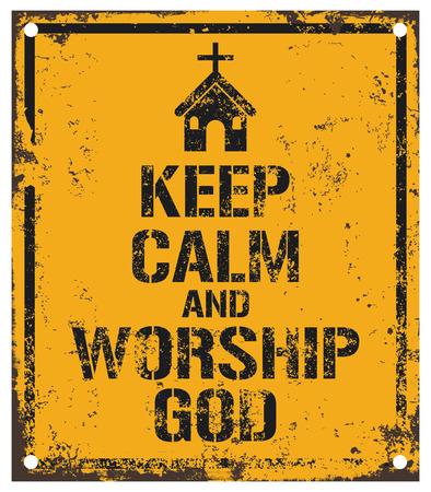 worship god: worship god sign