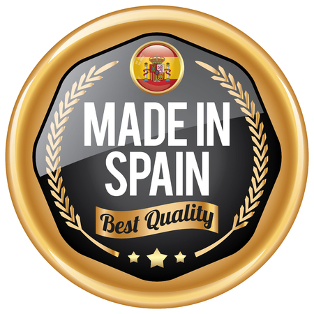 made in spain: made in spain icon Illustration